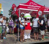 Lapin Crétin et meneurs d'allure Marathon Poitiers Futuroscope