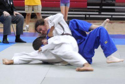 Judokate en action au sol
