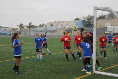 Parade gardienne de football féminin