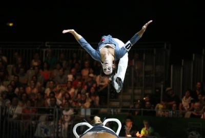 Nicolas ANDREANI en acrobatie à cheval