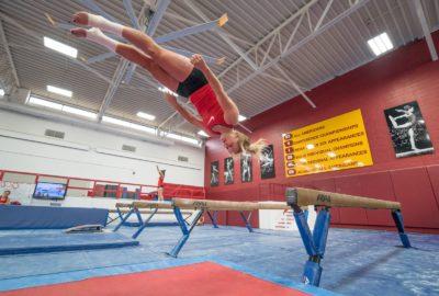 Gymnaste en l'air