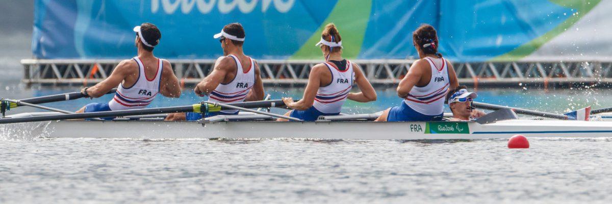Robin LE BARREAU barre en aviron aux jeux Paralympiques de Rio